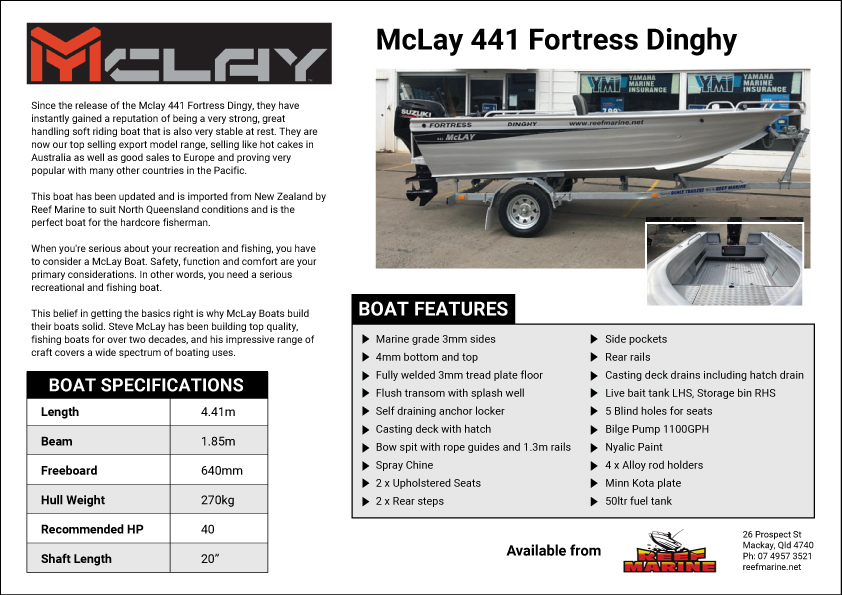 McLay 441 Fortress Dinghy Brochure