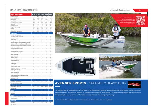 Sea Jay Avenger Sports Brochure
