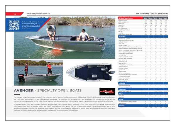 Sea Jay Avenger Brochure