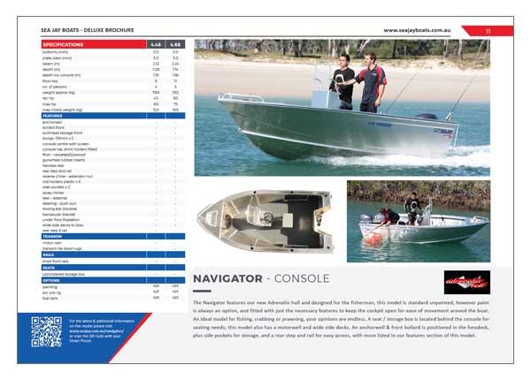 Sea Jay Navigator Brochure
