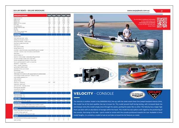 Sea Jay Velocity Brochure