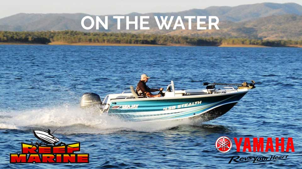 Sea Jay Stealth 458 on the water