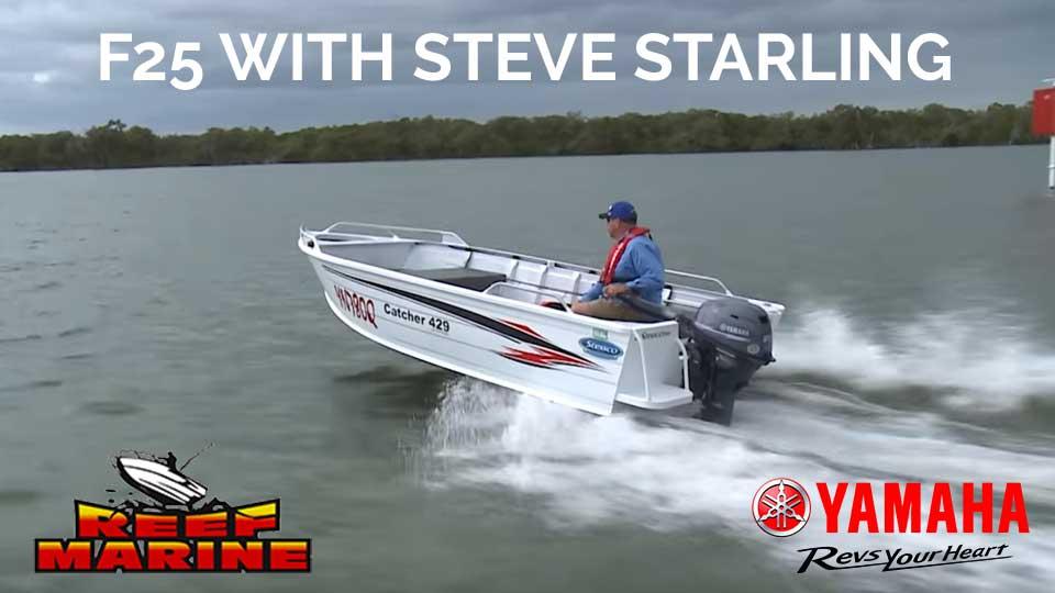 Yamaha F25 with Steve Starling