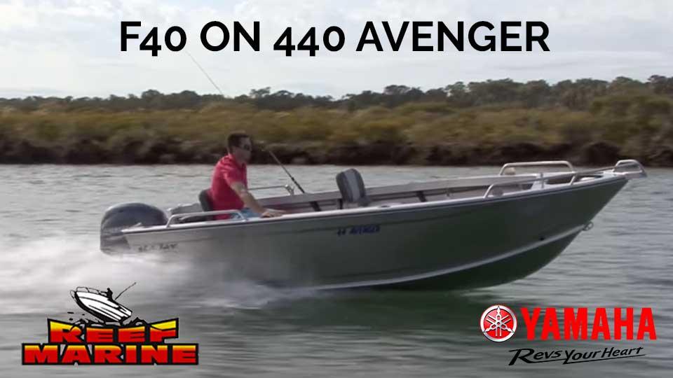 Yamaha on Sea Jay Avenger 440