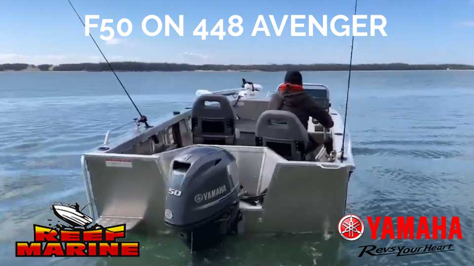 Yamaha F50 on Sea Jay Avenger 448