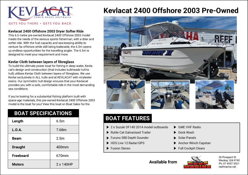 Kevlacat 2400 Offshore 2003 Pre-Owned Brochure