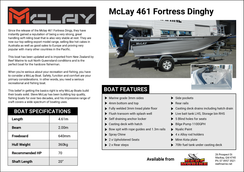McLay 461 Fortress Dinghy Brochure