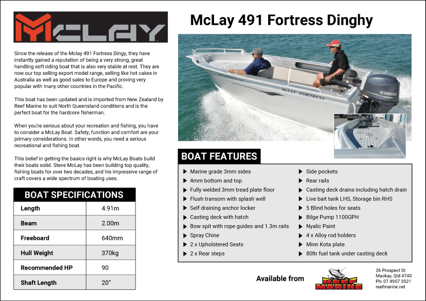 McLay 491 Fortress Dinghy Brochure