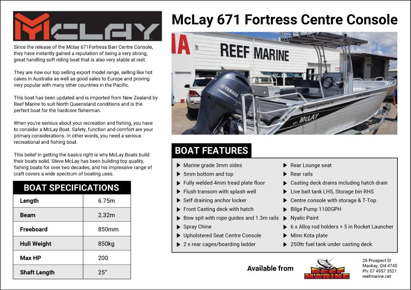 Mckay 671 Fortress Centre Console Brochure