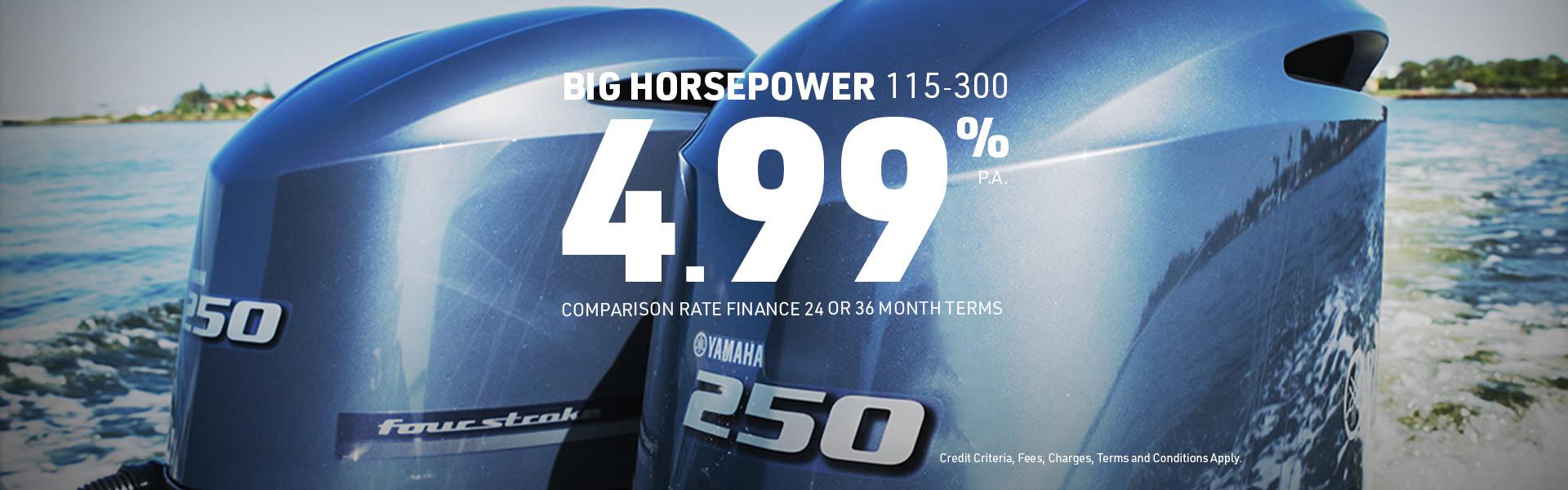 Yamaha 4.99% Interest on Bighorsepower