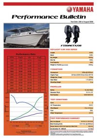 Kevlacat 9.0m 3400 Series with Yamaha F30 Performance Bulletin