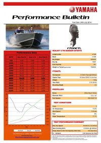 Sea Jay 4.7 Ranger Sports with Yamaha F70AETL Performance Bulletin