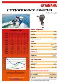 Sea Jat 468 Avenger with Yamaha F40-1 Performance Bulletin