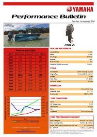 Sea Jay Stealth 458 with Yamaha F70LA Performance Bulletin