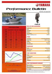 Sea Jay 468 Allrounder with Yamaha F60LB Performance Bulletin