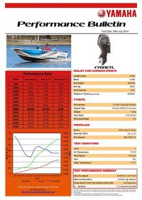 Sea Jay 5.0 Avenger Sports with Yamaha F70AETL Performance Bulletin