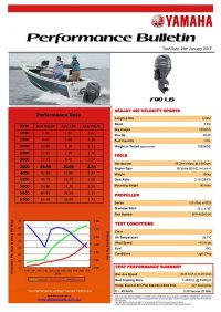 Sea Jay 490 Velocity Sports with Yamaha F75LB Performance Bulletin