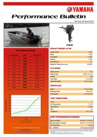 Sea Jay 3.5 Nomad HS with Yamaha F9.9 Performance Bulletin