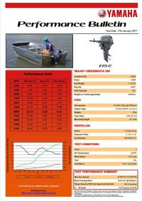 Sea Jay 398 Creekmasta with Yamaha F25C Performance Bulletin