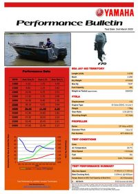 Sea Jay 483 Territory with Yamaha F70 Performance Bulletin
