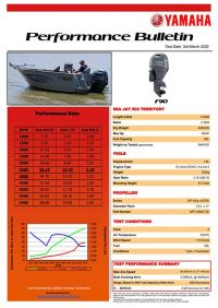 Sea Jay 503 Territory with Yamaha F90 Performance Bulletin